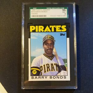 1986-Topps-Traded-Barry-Bonds-11T-Rookie-Baseball-Card-SGC-9-PSA-Cross