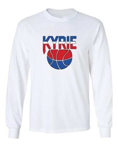 Kyrie Irving Nets Old School New Jersey Nets Logo T-Shirt