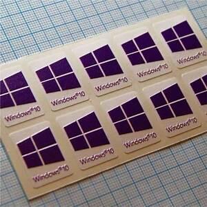 10 x Windows 10 autocollant- sticker- étiquette pour ordinateur portable purple 727xoMWy-09153419-533297555