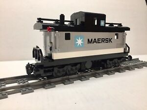 Lego Maersk Custom Caboose For 10219 Maersk Train Nice New Parts