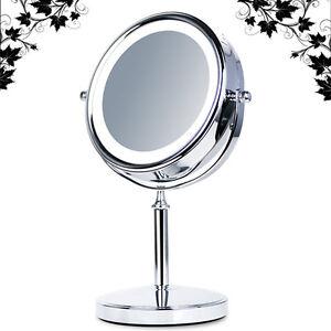 luxus led stand beleuchtet kosmetikspiegel nomal 5 fach wco 5 ebay. Black Bedroom Furniture Sets. Home Design Ideas