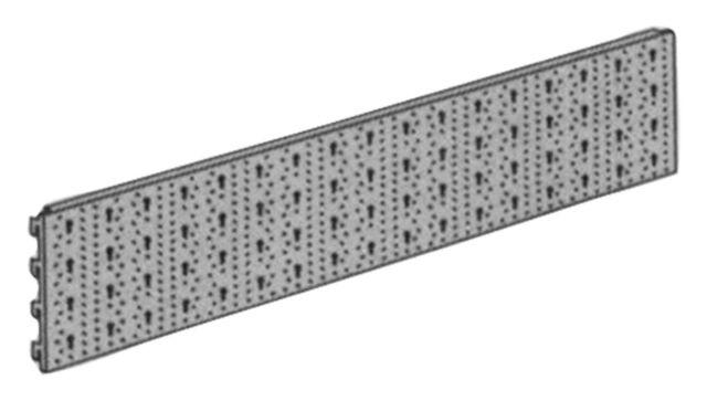 ELEMENT SYSTEM Lochplatte 11400 L 800mm B 200mm Stahl weiß 11400-00004