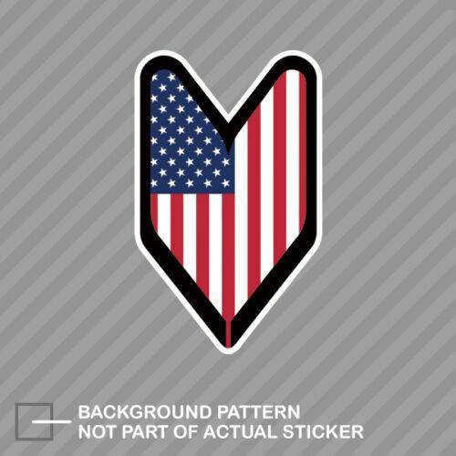 American USDM Driver Badge Sticker Die Cut Decal Vinyl wakaba leaf soshinoya usa