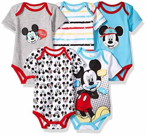 Disney Baby Boys/' Mickey Mouse Five-Pack Bodysuits Size 12M 18M 24M