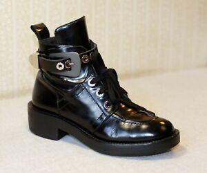 1500$ BALENCIAGA Ceinture black grey laceup NO cut out boots 38-37.5 4.5-5 7-7.5