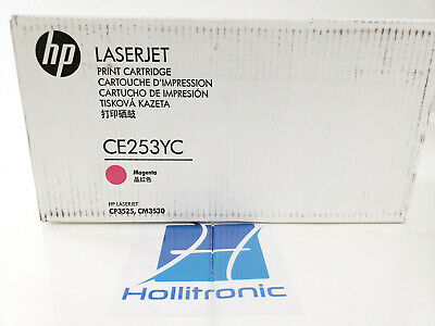 Magenta High Yield Contract Toner Genuine OEM Sealed Bo HP CE253YC CE253A 504A