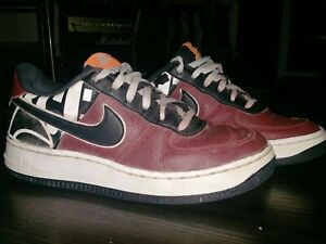 Details about Nike Air Force 1 Old School Low Top Shoes Youth/Boys Size Y4.5 Maroon/Black