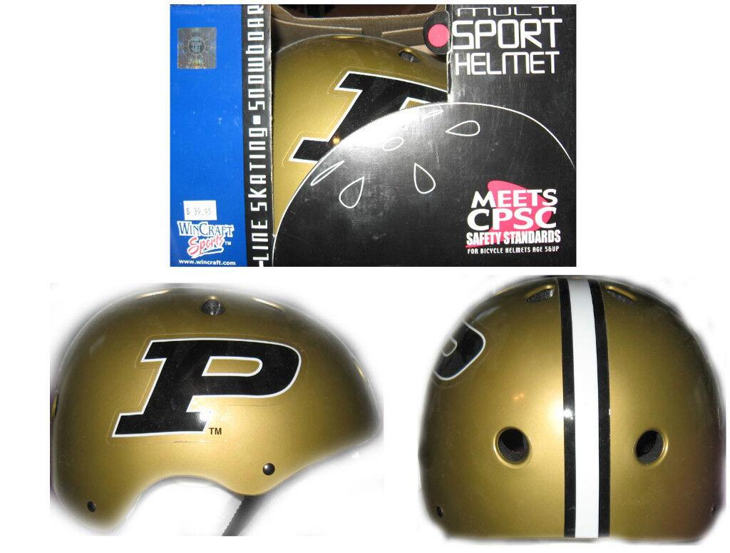 Purdue University Multi Sport Helmet L-21 3 4 -22 3 4  Biking S boarding 5+