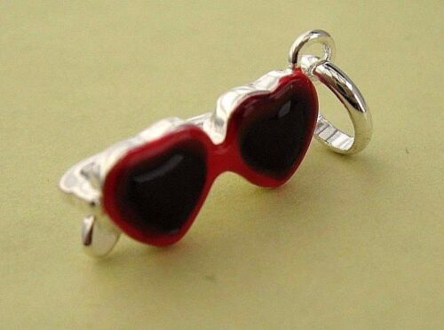 London 925 Silver Sunglasses Charm attaches to the links of your bracelet