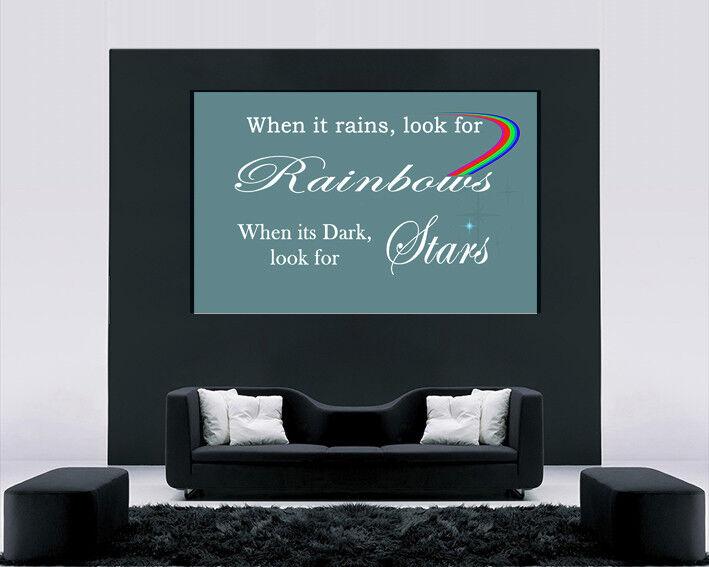 Quando piove cercare Arcobaleni preventivo Blu Blu Blu Uovo D'Anatra-Stampa artistica a muro 25f4d4