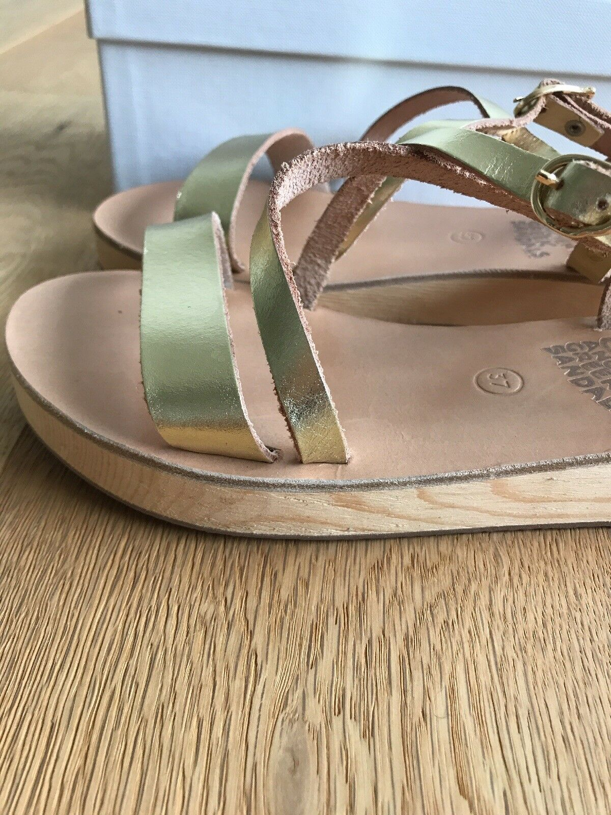 ancient 37 greek sandal Gold Gr. 37 ancient d97285