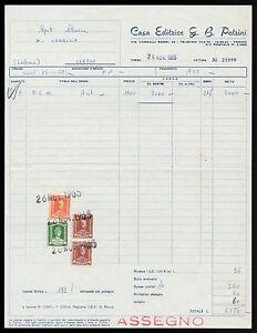 FT0024 Mansion Publishing G.B.Petrini - Torino - Invoice D' Epoca