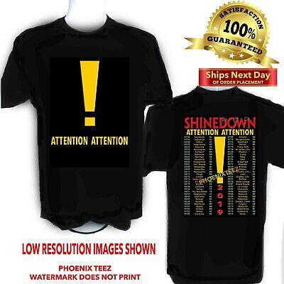5XL ATTENTION TOUR 2019 SHINEDOWN T-Shirts SIZE S