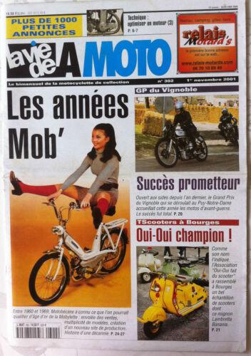 """LVM La Vie de la Moto n°302 du 1//11//2001; Les années /""""Motobécane/"""" 1960 à 1969"""
