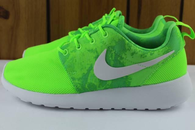 Nike roshe cómodo mujer ejecutar una Flash Lime Nuevo Raro cómodo roshe 4bc980