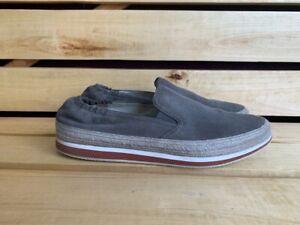 Prada Loafers Men Suede Grey Shoes Sz. USA 12 UK 11 EU 45