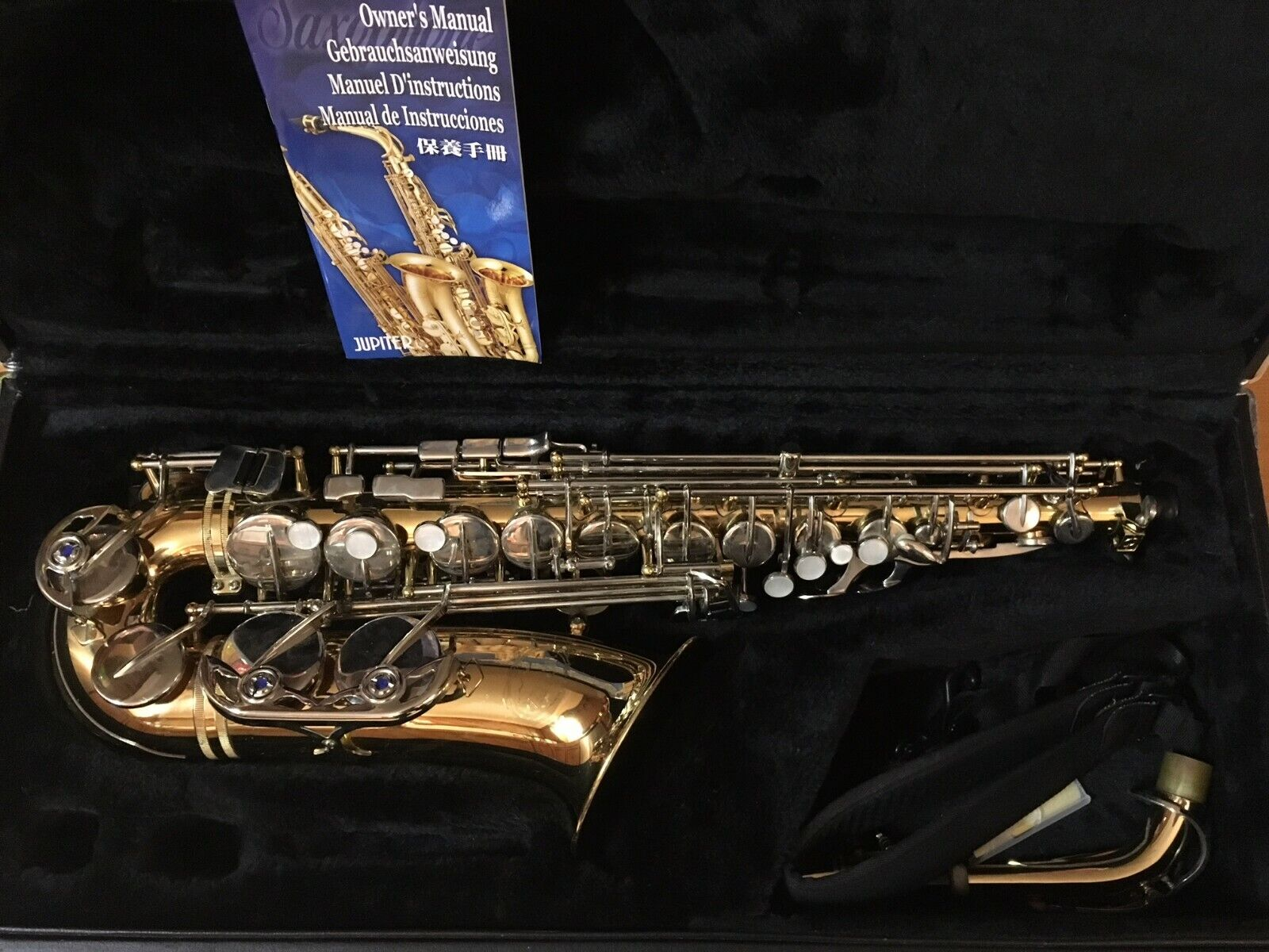 Jupiter Alto Saxaphone JAS-769L63800 Gebrauchte Saxophone w  Hardshell Case & Extras