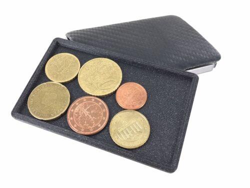 Coin Case Clip Coin-Card Kartenetui Münzfach für Slim Wallets Schwarz