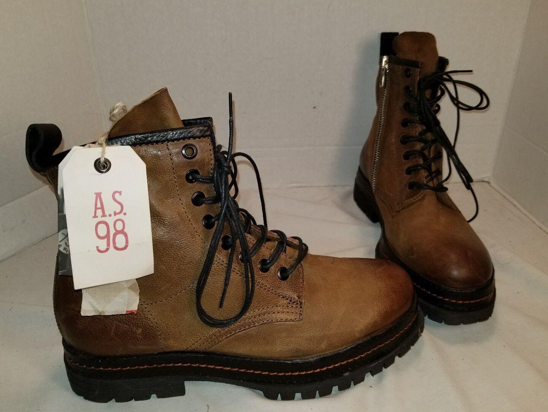 más vendido Nuevo como 98 Lennie botas Con Con Con Cordones Cuero Marrón Envejecido US 9  popular