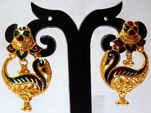 801fcf52f High quality 22K Gold plated City Gold Meenakari Stud Tops Earrings ...