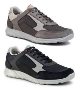 GEOX-RESPIRA-ERAST-U023EA-scarpe-uomo-sneakers-pelle-tessuto-camoscio-mocassini