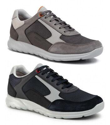 GEOX RESPIRA TRACCIA U743RB Navy scarpe uomo pelle camoscio tessuto sneakers   eBay