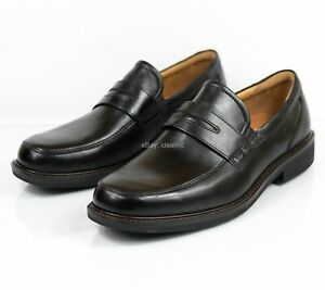 Ecco-Holton-Penny-Loafer-621184-Black-Leather-Casual-Men-039-s-size-9-9-5-US-43-EU