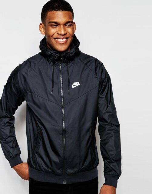 3cb4441434 2017 Mens Nike Sportswear Windrunner 727324 Black Medium M Jacket ...