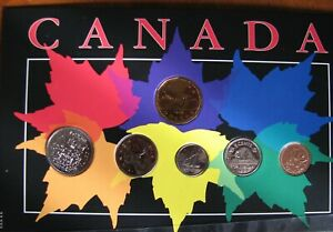CANADA-1988-Uncirculated-Coins-in-a-Folder