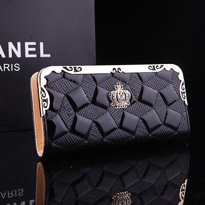 Women Fashion PU Leather Clutch Wallet Card Holder Ladies Long Purse Handbag Bag