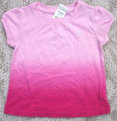 Childrens Place Pink Dye Heart Tee T Shirt Infants Baby Girls 6-9 M