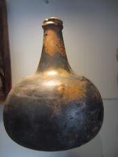 antique dutch/english old wine-bottle 17th century onion excavated  kattekop
