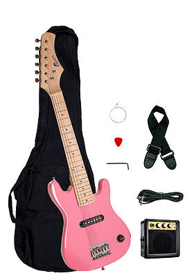 raptor 30 kids 1 2 size pink electric guitar package with amp gig bag strap 760459033003 ebay. Black Bedroom Furniture Sets. Home Design Ideas