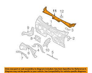 BMW-OEM-06-10-550i-Cowl-Panel-Windshield-Wiper-Motor-Cover-51717027083