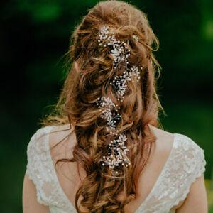 Wedding Hair Vine Bridal Accessories Crystal Pearl Shining Headband Headpiece US