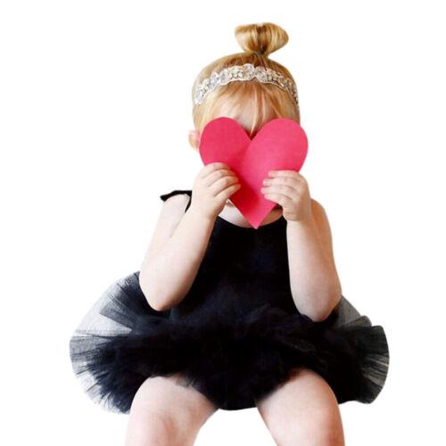 Newborn Infant Baby Girls Princess Romper Playsuit Beach Party Tutu Dress Outfit