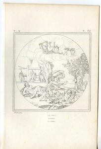 ANTIQUE-ARTISTIC-NUDE-WOMAN-CUPIDS-BOW-ARROW-CHARIOT-FIRE-MTHOLOGY-ETCHING-PRINT