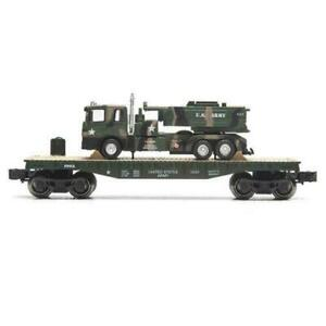 O-GAUGE-US-ARMY-MILITARY-FLAT-WITH-US-ARMY-LIONEL-NEW