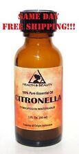CITRONELLA ESSENTIAL OIL AROMATHERAPY 100% PURE NATURAL GLASS BOTT 1.0 OZ 30 ML