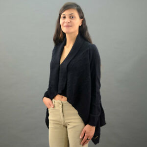 Conte-of-Florence-Cardigan-Wool-Real-New-Blue-Mod-Navy