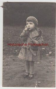 (f13402) Orig. Photo Petite Fille Avec Manteau Et Chapeau 1930-afficher Le Titre D'origine Ventes De L'Assurance Qualité