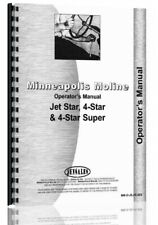 Operators Manual Minneapolis Moline 4 Star Super Tractor