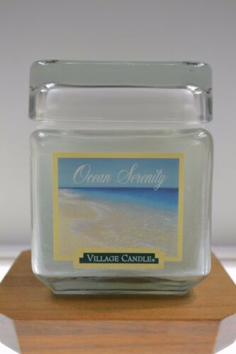 Village Candle OCEAN SERENITY 16 oz SQUARE jar FREE usa SHIPPING