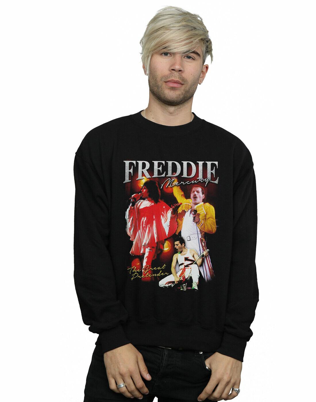 Queen Men's Freddie Mercury Homage Sweatshirt