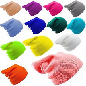 ENFANTS-ECOLE-Bonnet-Hiver-filles-garcon-garcons-Chapeaux-tricotes-bouffant