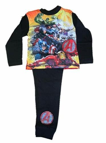 Boys Marvel Avengers  Long Sleeve Pyjamas pjs set Red//Black Age 4-10 years