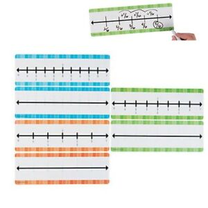 dry erase fraction number lines x 3 sixths eighths and tenths