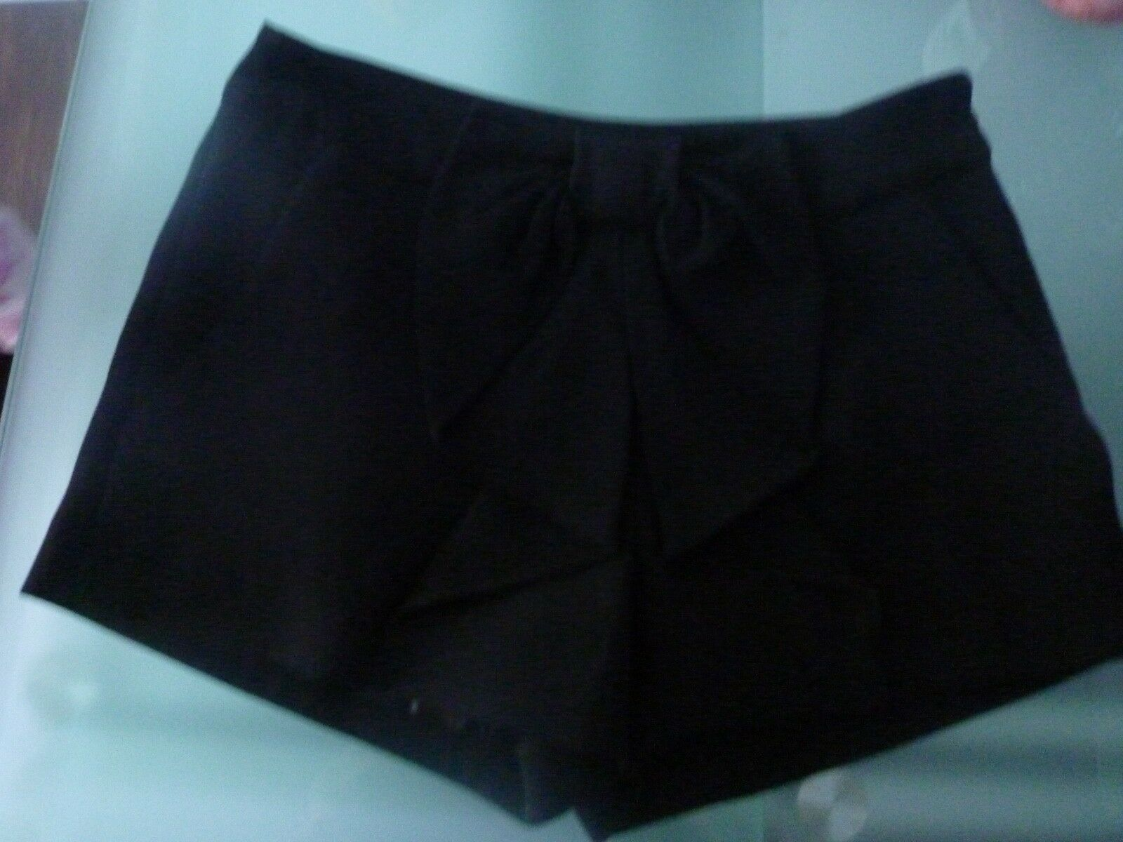 MAGNIFIQUE SHORT negro GROS NOEUD COULANT MARQUE MAJE Talla 34 34 34 NEUF 79fbce