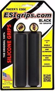 ESI Racer's Edge Silicone Thin MTB Bike Grips Racers 30mm x 130mm - Black