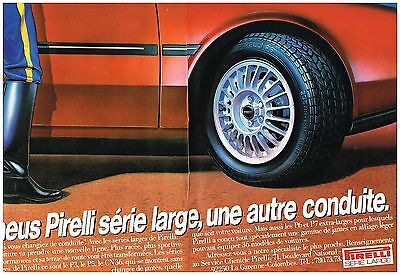 2 Pages Publicite Adverstising 1981 Pirelli Pneus Be Friendly In Use
